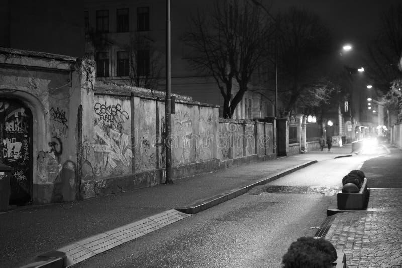 Rue de centre de la ville de Zagreb images libres de droits