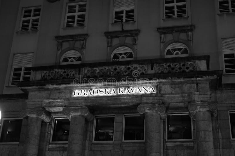 Rue de centre de la ville de Zagreb photo stock