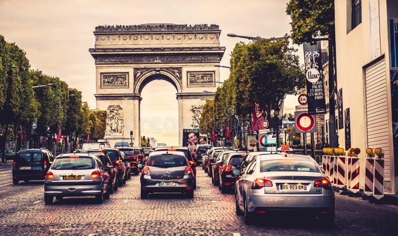 Rue de Champs-Elysees photo libre de droits