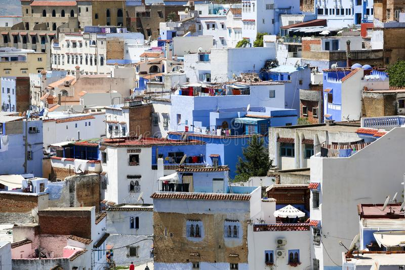 Rue de Chefchaouen photo stock