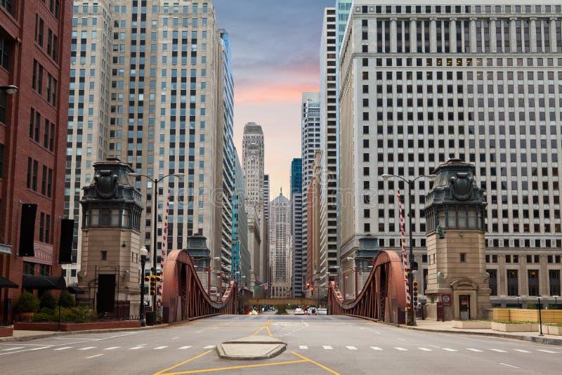 Rue de Chicago. photos libres de droits
