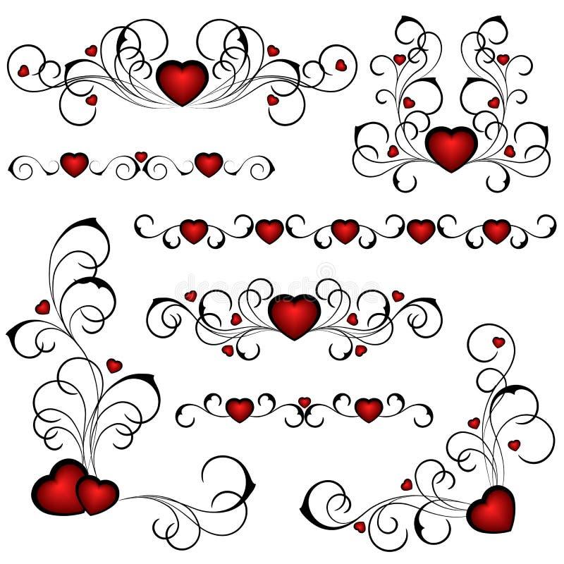 rue de coeur au valentine illustration de vecteur