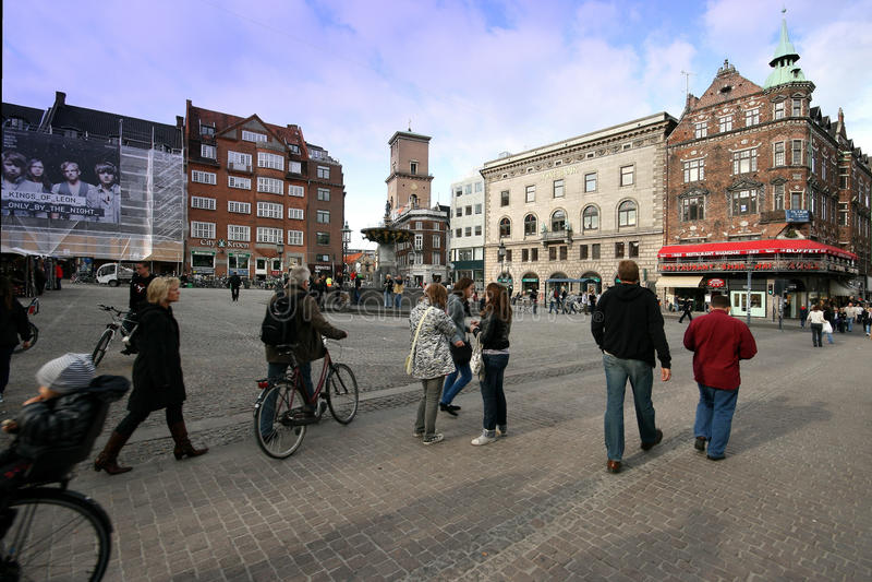 Rue de Copenhague. images libres de droits