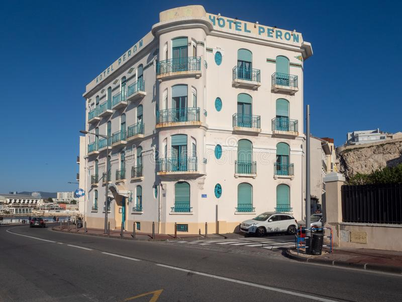 Rue de Corniche Président John Fitzgerald Kennedy, Marseille photo stock