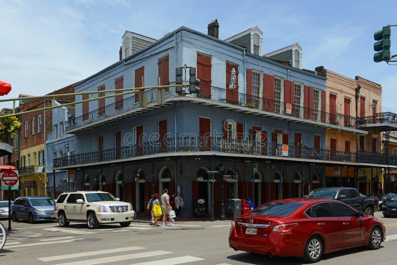 Rue de Decatur dans le quartier français, la Nouvelle-Orléans photos libres de droits