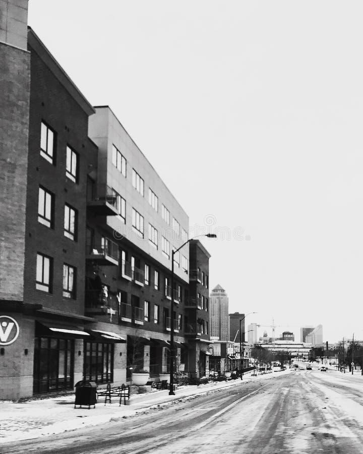 Rue de Des Moines photos libres de droits