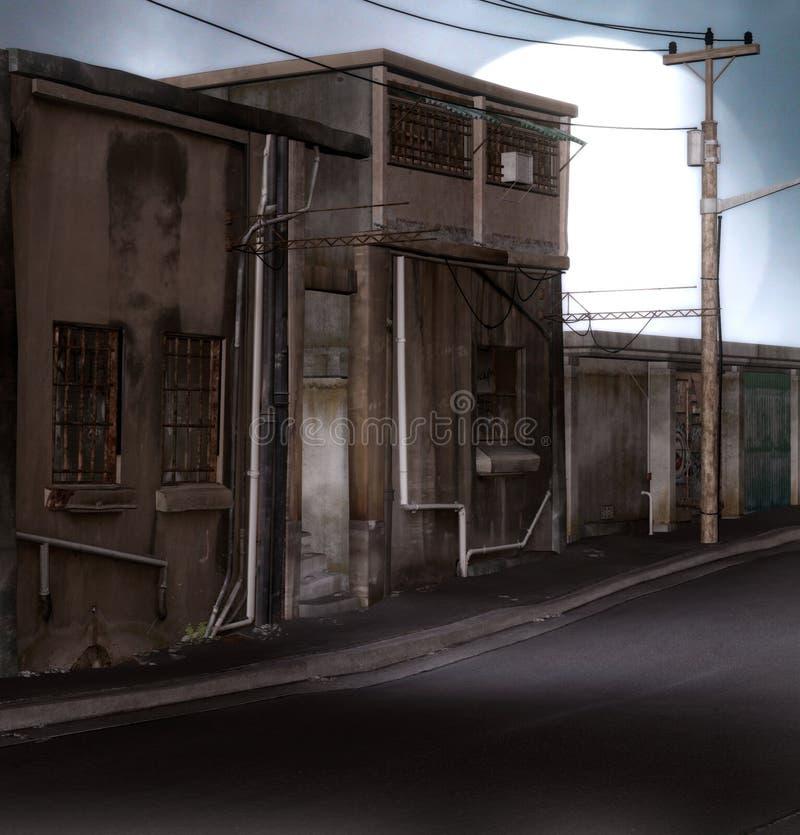 Rue De Distopian Photographie stock libre de droits