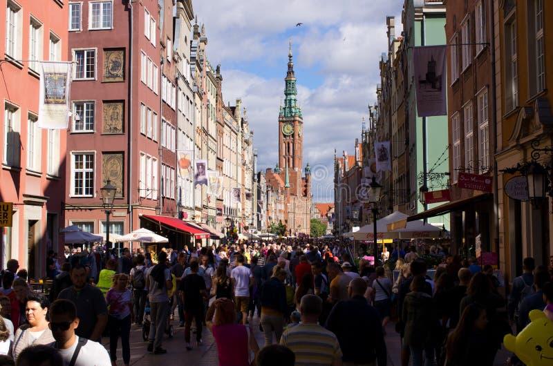 Rue de Dlugi Targ à Danzig, Pologne photo libre de droits