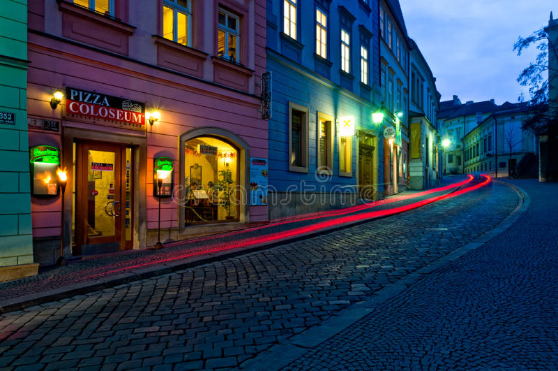 Rue de Dominikanska à Brno. image stock