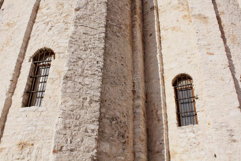 rue de donat d'église Zadar Croatie mur de texture de fond photos stock