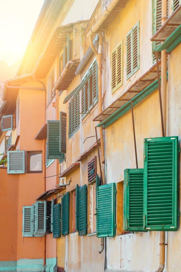 Rue de Florence, maison authentique traditionnelle L'Italie, Firenze photos stock