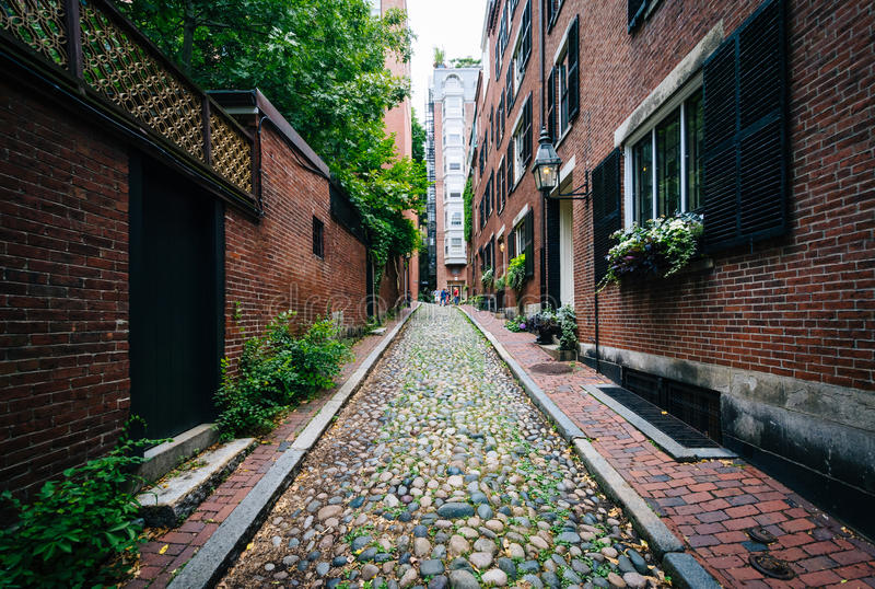 Rue de gland, dans Beacon Hill, Boston, le Massachusetts images stock