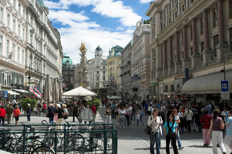 Rue de Graben, Vienne photo stock