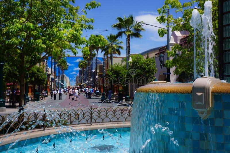 Rue de Hollywood Buena Vista d'aventure de Disney la Californie images stock