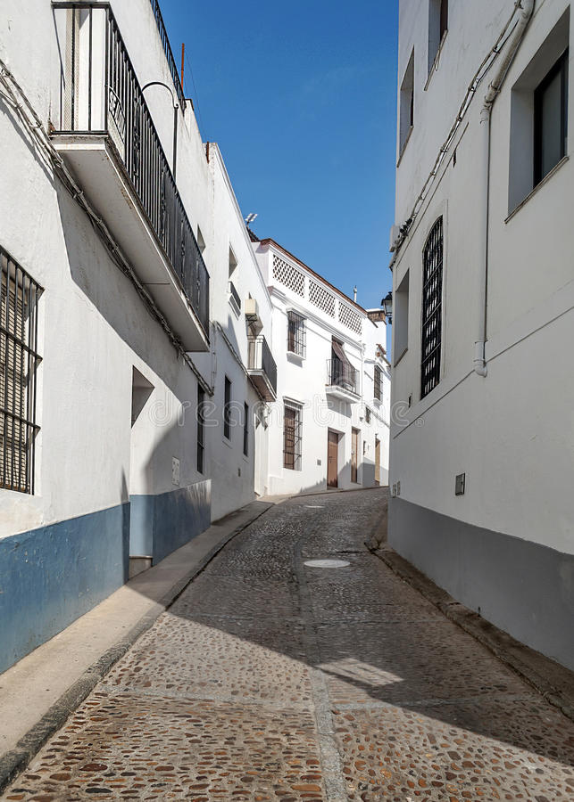 Rue de Jerez de los Caballeros photos libres de droits