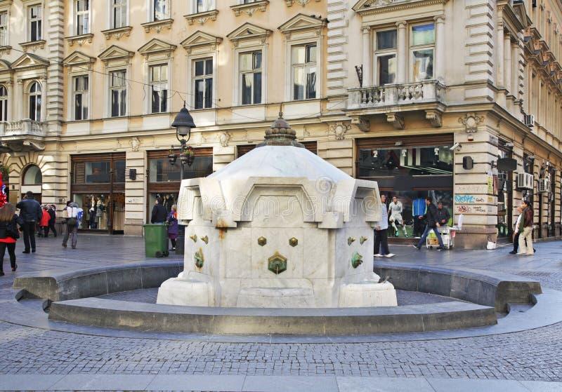Rue de Knez Mihailova à Belgrade serbia photographie stock