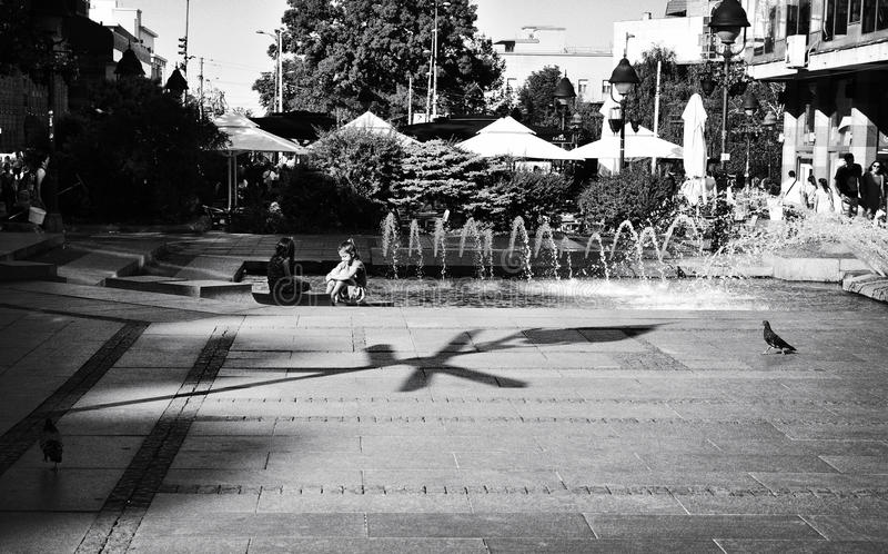 Rue de Knez Mihailova à Belgrade, Serbie photo libre de droits