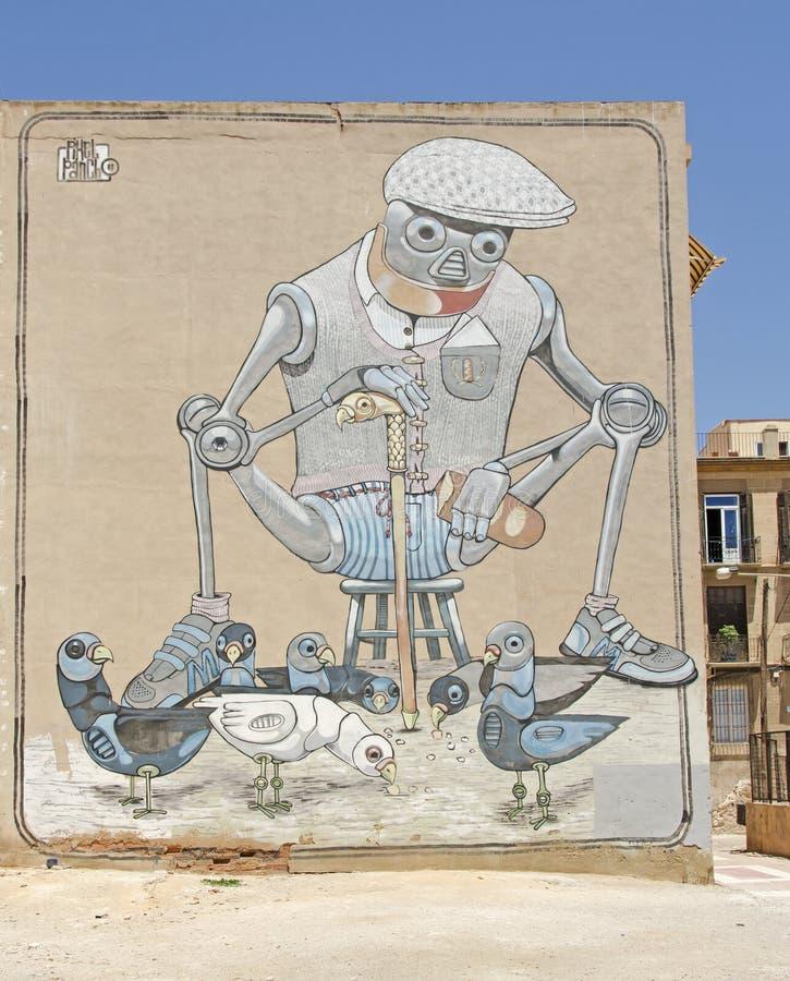 rue de l'Espagne d'art photographie stock libre de droits