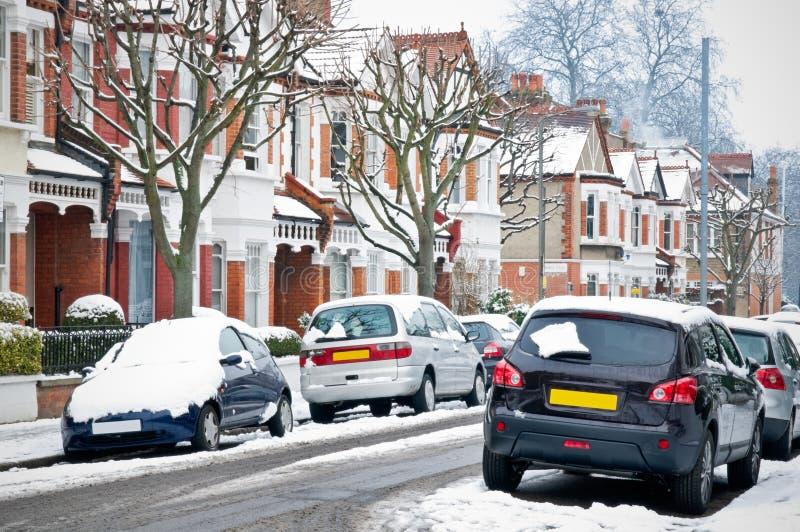 Rue de l'hiver à Londres. image stock