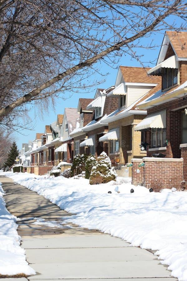 Rue de l'hiver de Milou Chicago photo libre de droits