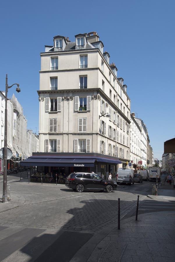 Rue de la Roquette, Paris, France stock photography