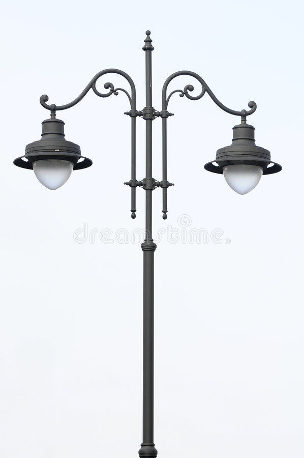 rue de lampe photo libre de droits