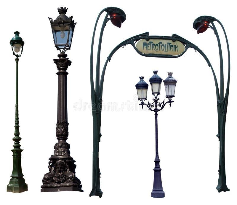 rue de lampes photo libre de droits