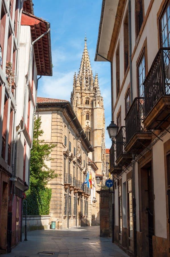 Rue de lundi, Oviedo photos libres de droits