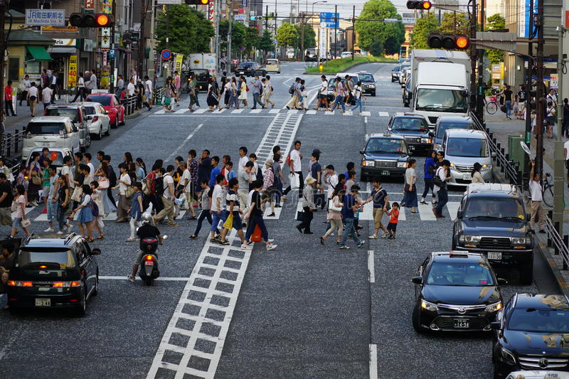 Rue de Machida photo libre de droits