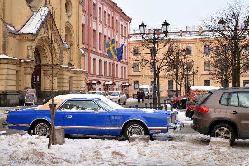 Rue de Malaya Konyushennaya à St Petersburg photos libres de droits