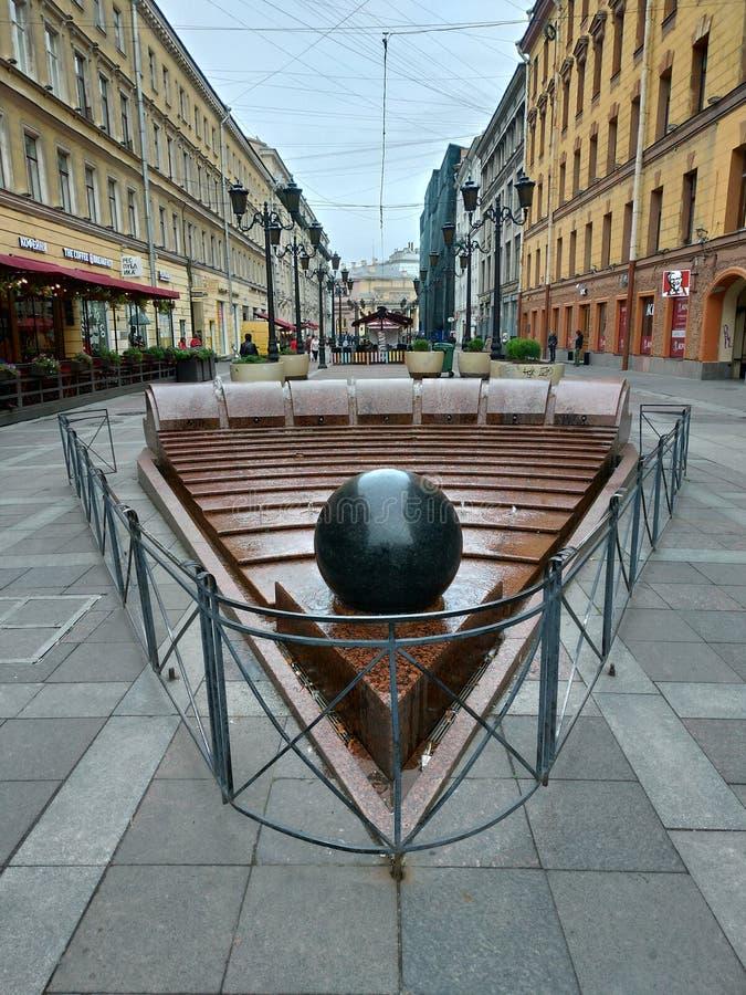 Rue de Malaya Sadovaya, St Petersburg photographie stock libre de droits