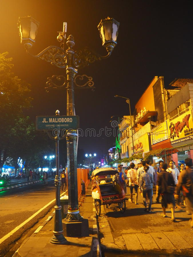 Rue de Malioboro photo stock