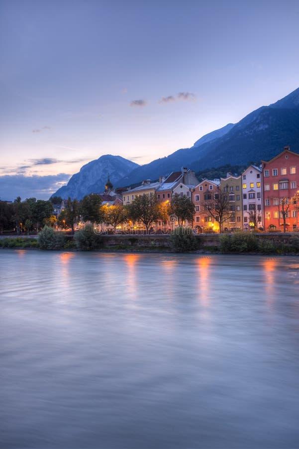 Rue de Mariahilf à Innsbruck, Autriche. photo stock