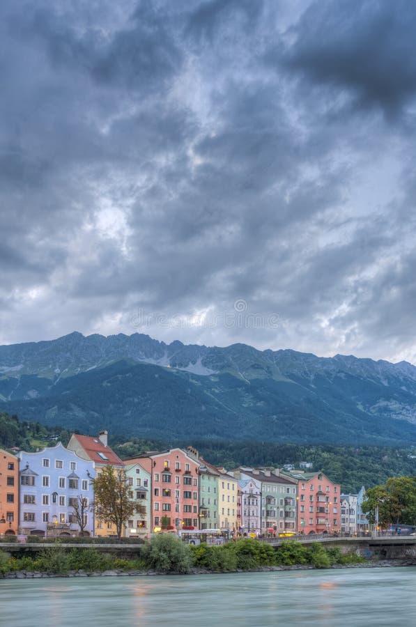 Rue de Mariahilf à Innsbruck, Autriche images libres de droits
