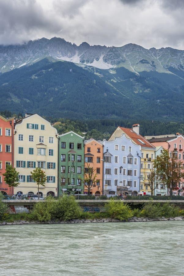 Rue de Mariahilf à Innsbruck, Autriche photographie stock