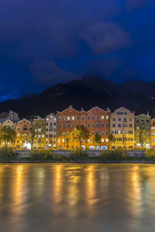 Rue de Mariahilf à Innsbruck, Autriche photo stock