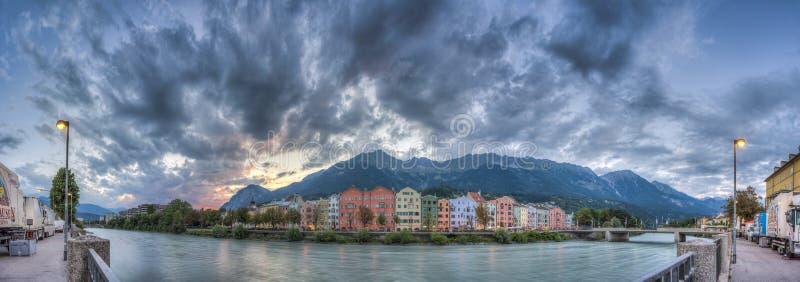 Rue de Mariahilf à Innsbruck, Autriche photos libres de droits