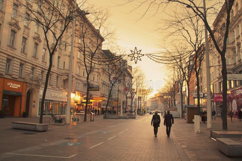 Rue de Mariahilfer photos libres de droits