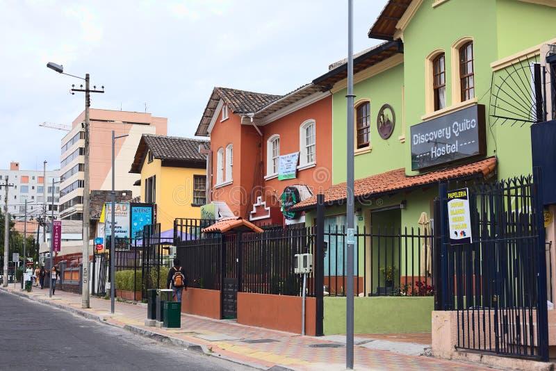 Rue de Mariscal Foch à Quito, Equateur photo stock