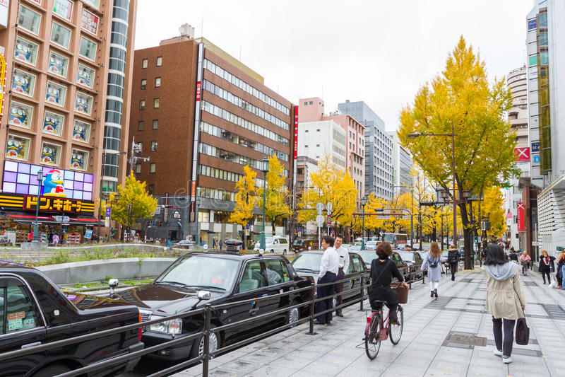 Rue de Midosuji à Osaka Japon image stock