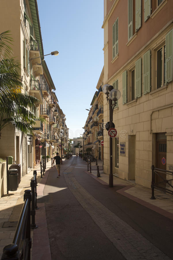 Rue de Millo Monaco. Rue de Millo street in Monaco. Monaco is a sovereign city-state and microstate, located on the French Riviera in Western Europe royalty free stock photos