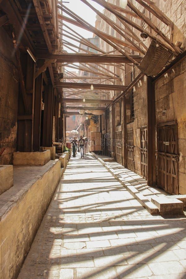 Rue de moez d'Al image stock