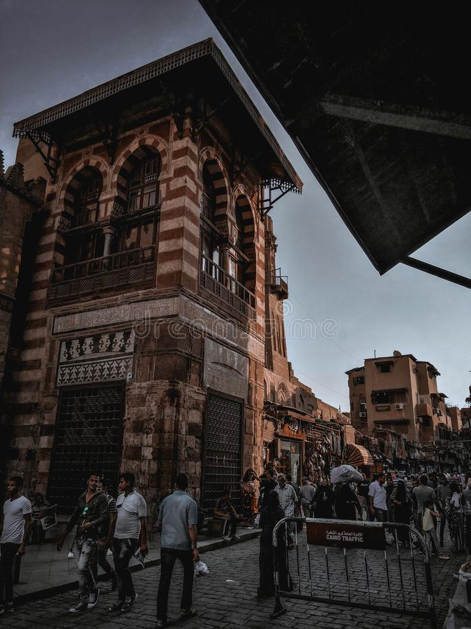 Rue de Muiz au Caire photos libres de droits