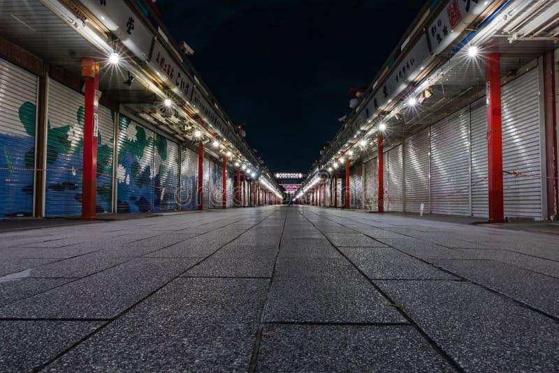 Rue de Nakamise Dori images libres de droits