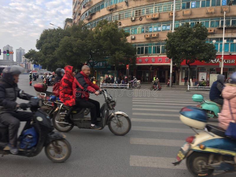 Rue de Nan-Tchang, carrefours image libre de droits