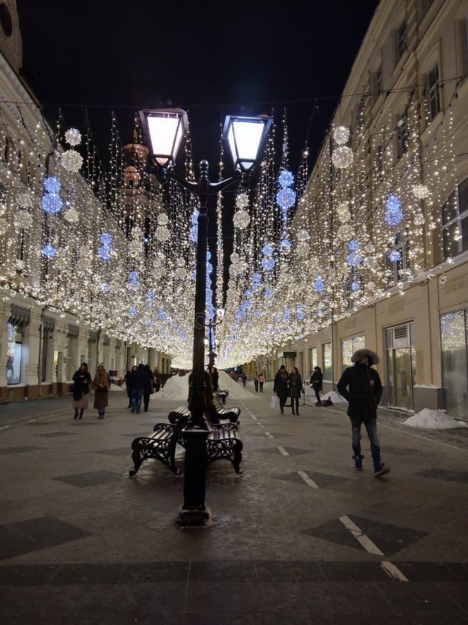 Rue de Nikolskaya images libres de droits