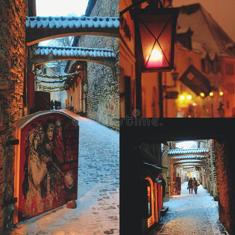 Rue de Noël photographie stock libre de droits