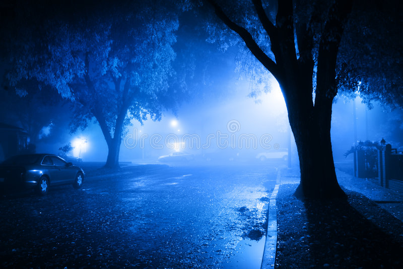 Rue de nuit photo stock