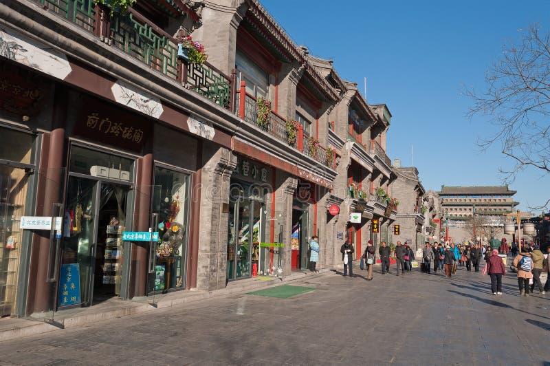 Rue de Pékin Qianmen images libres de droits