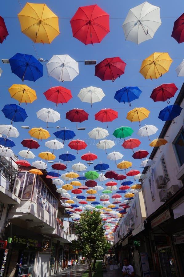 Rue de parapluie image stock